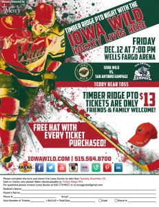 Timber Ridge PTO Night with the Iowa Wild2014